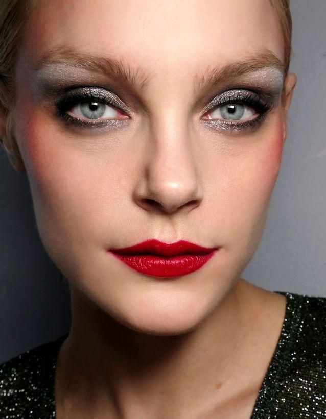 Maquillage des yeux bleus verts