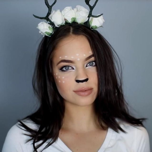 Maquillage d'Halloween : biche