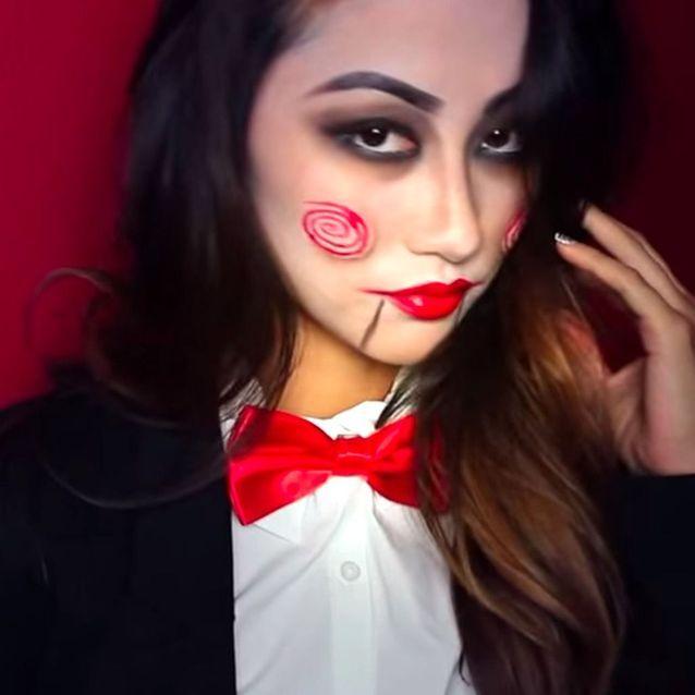 Maquillage Halloween : la poupée dans SAW
