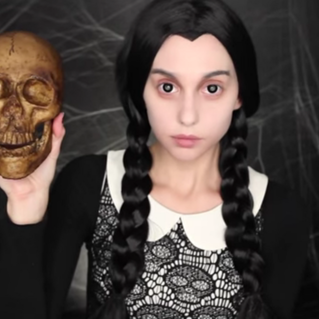 Maquillage Halloween : Mercredi Addams