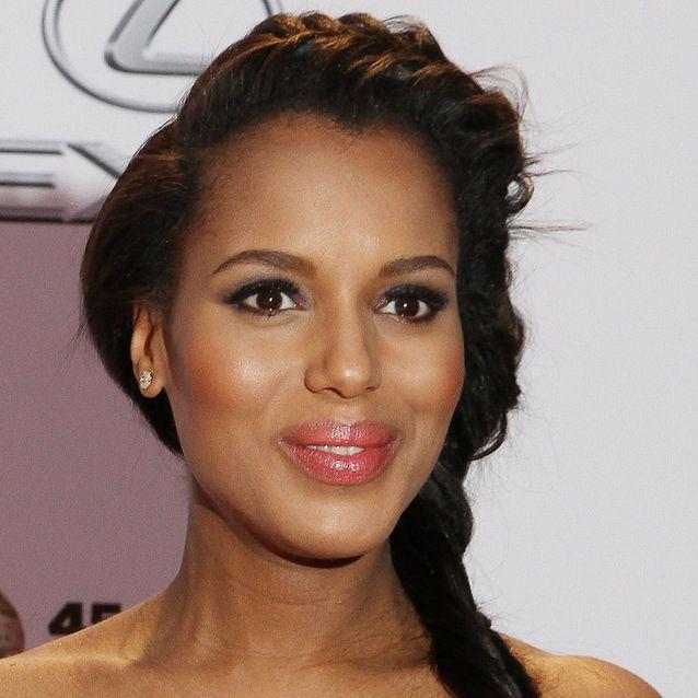 Le maquillage nude des peaux métissées comme Kerry Washington