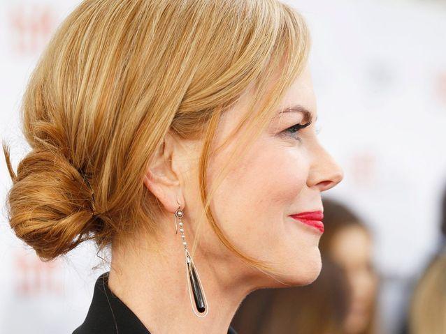 Le chignon bohême chic de Nicole Kidman