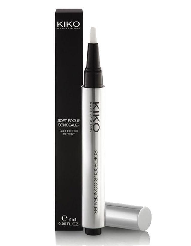 Soft Focus Concealer, anti-cernes illuminateur avec effet lifting redensifiant, Kiko, 7,50€