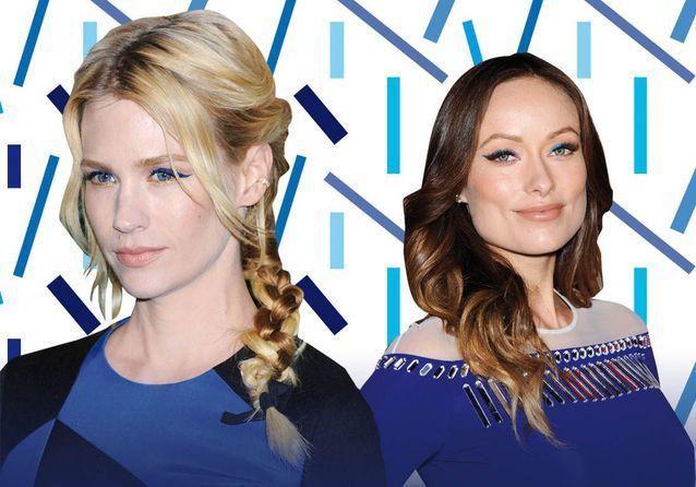 Maquillage bleu : les stars plongent dans la tendance