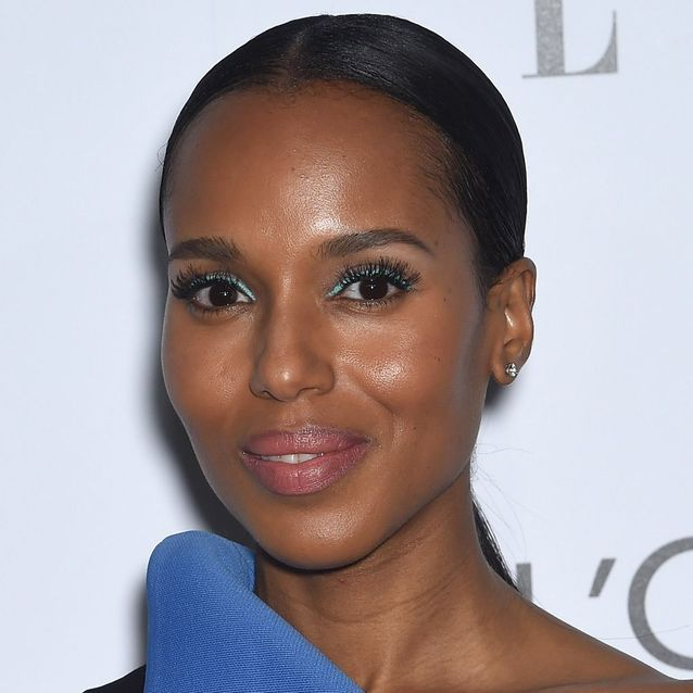 L'eye-liner bleu turquoise de Kerry Washington
