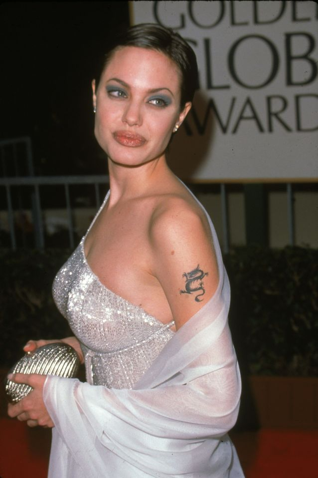 meaning of Angelina Jolie's tattoos and her tribal dragon tattoo