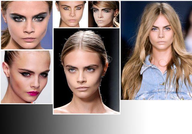 1 fille, 10 make-up : Cara Delevingne