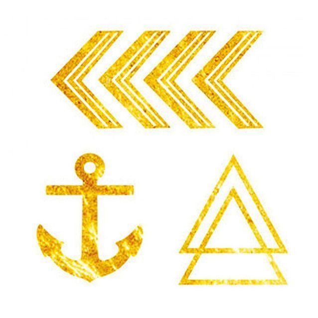 Dcer Tatouage éphémère Gold Mini x2
