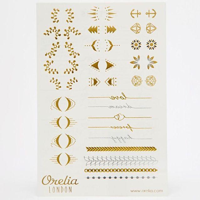 Orelia, tatouages temporaires pour doigts et poignets