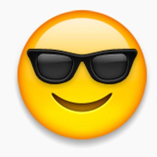 Le smiley qui porte des lunettes de soleil - Beauté : la vraie ...