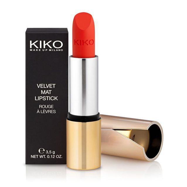 Rouge à lèvres Velvet Mat, Bright Orange, Kiko