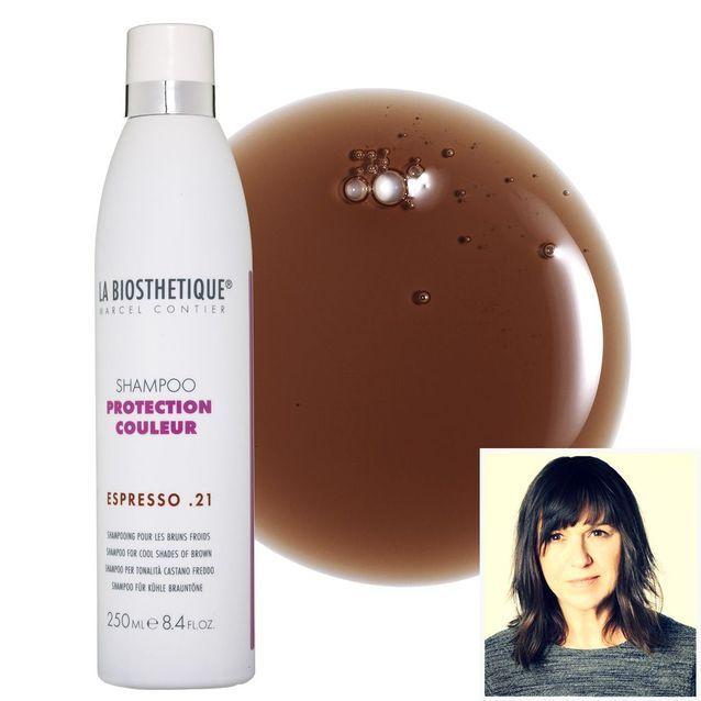 Le shampooing brunette d'Isabelle Sansonetti, journaliste