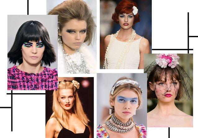 Karl Lagerfeld : les plus beaux make-up Chanel à travers les années