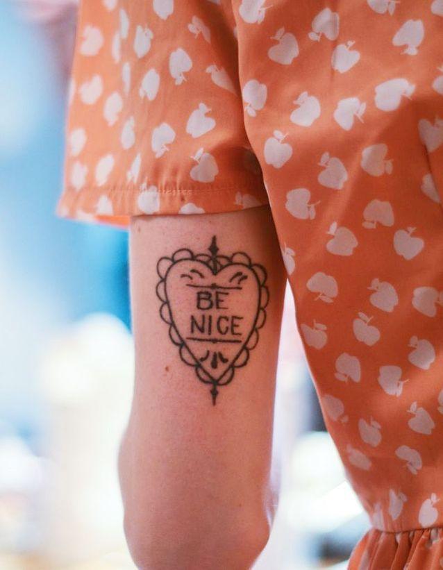Idée tatouage :  un mot d'ordre