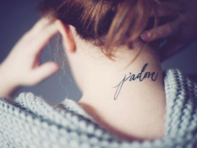 Idée tatouage : un mot doux