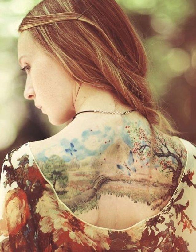 Idée tatouage : une aquarelle