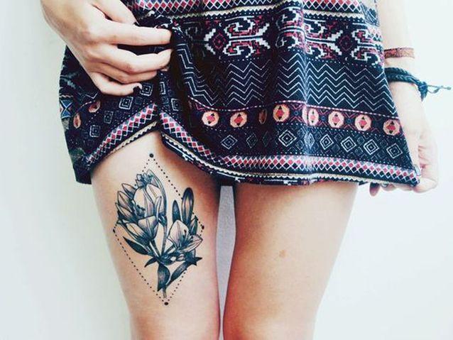 Idée tatouage : une fleur graphique