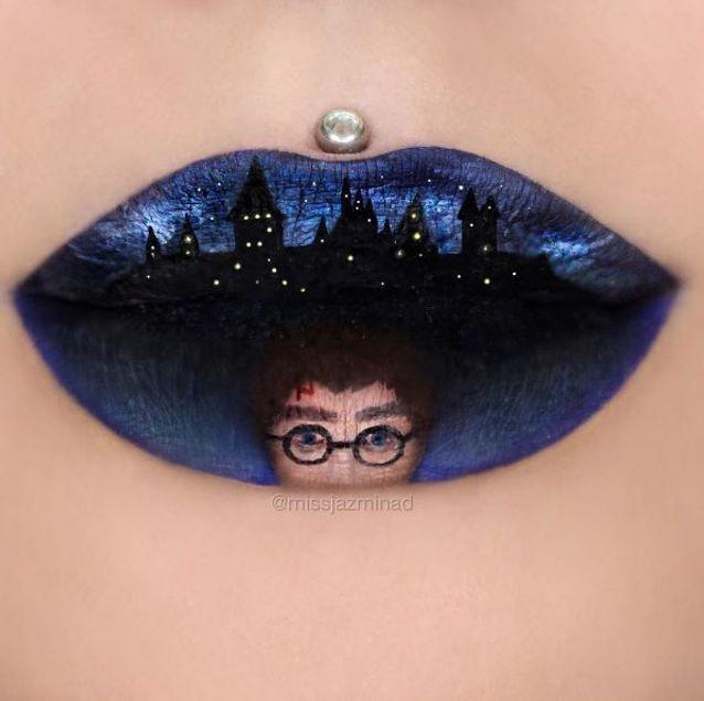"Le lip art ""Harry Potter"" de Jazmina Daniel"