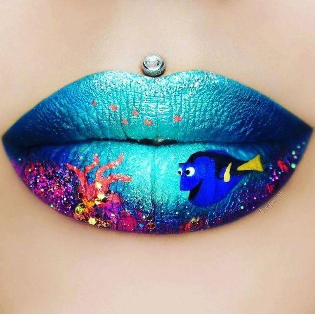 "Le lip art ""Nemo"" de Jazmina Daniel"