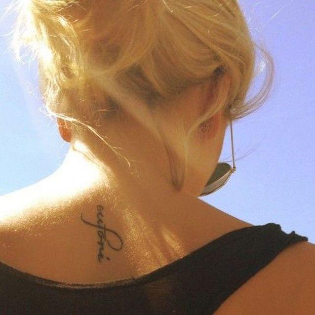 Petit tatouage écriture
