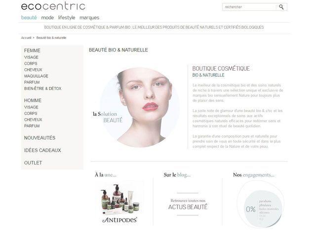 Site de maquillage bio : Ecocentric