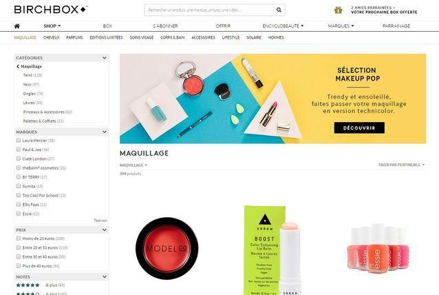 Site de maquillage box : Birchbox