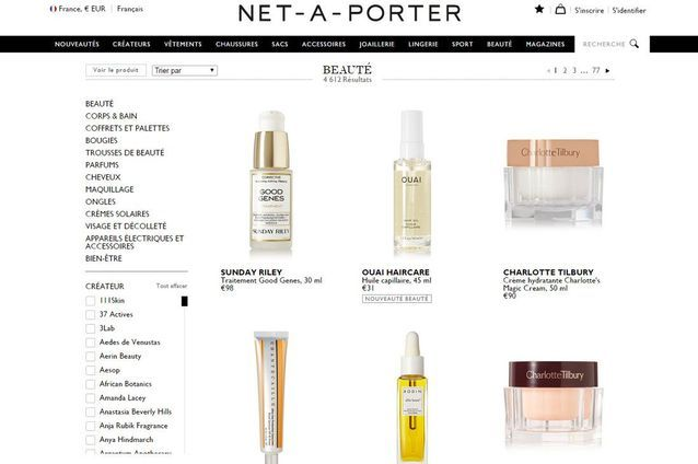 Site de maquillage de luxe : Net à Porter beauté