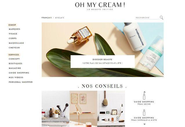 Site de maquillage pointu : Oh My Cream !