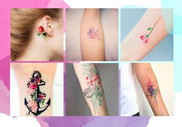 Tatouage Aquarelle Notre Selection De Tatouages Aquarelle Elle