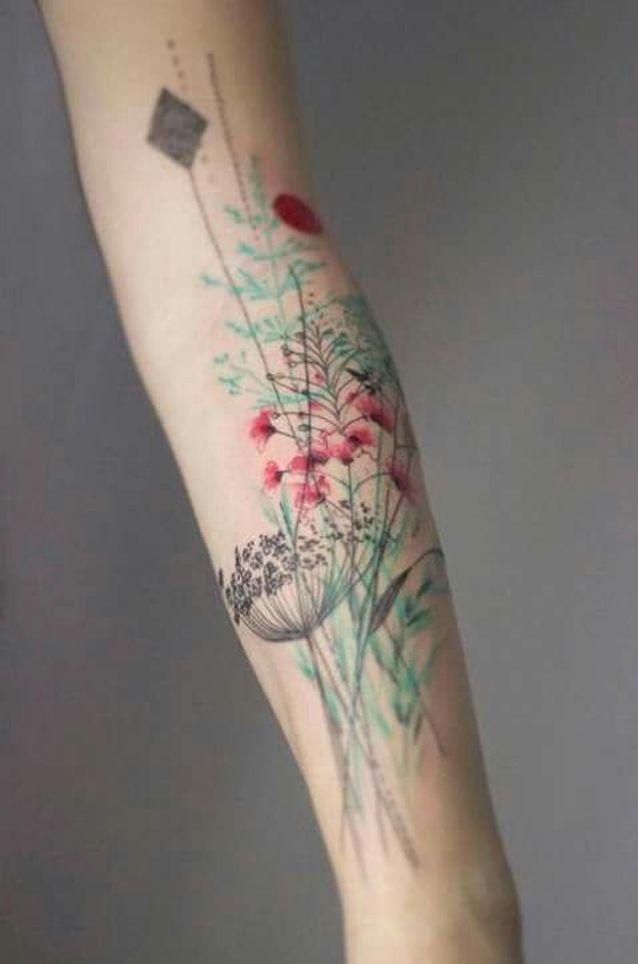 Tatouage Aquarelle Fleurs Les Plus Jolis Tatouages Aquarelle Pour
