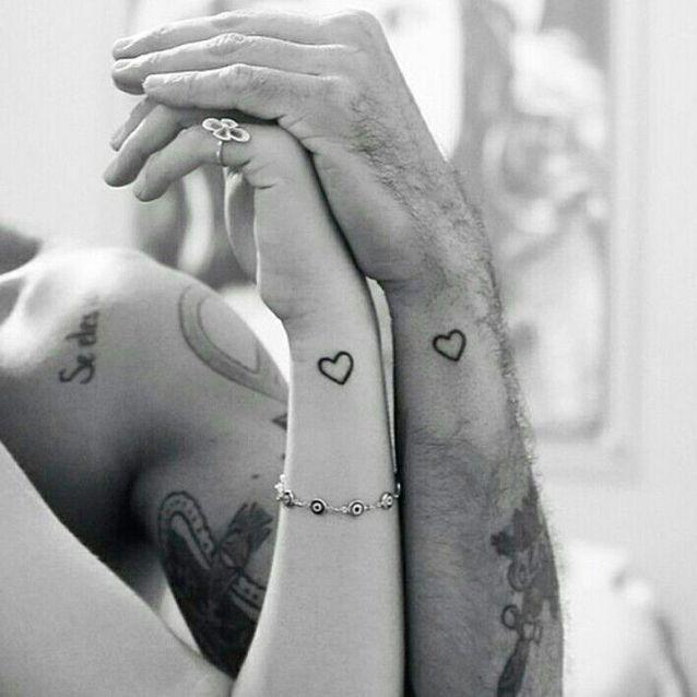 Tatouage couple cœur