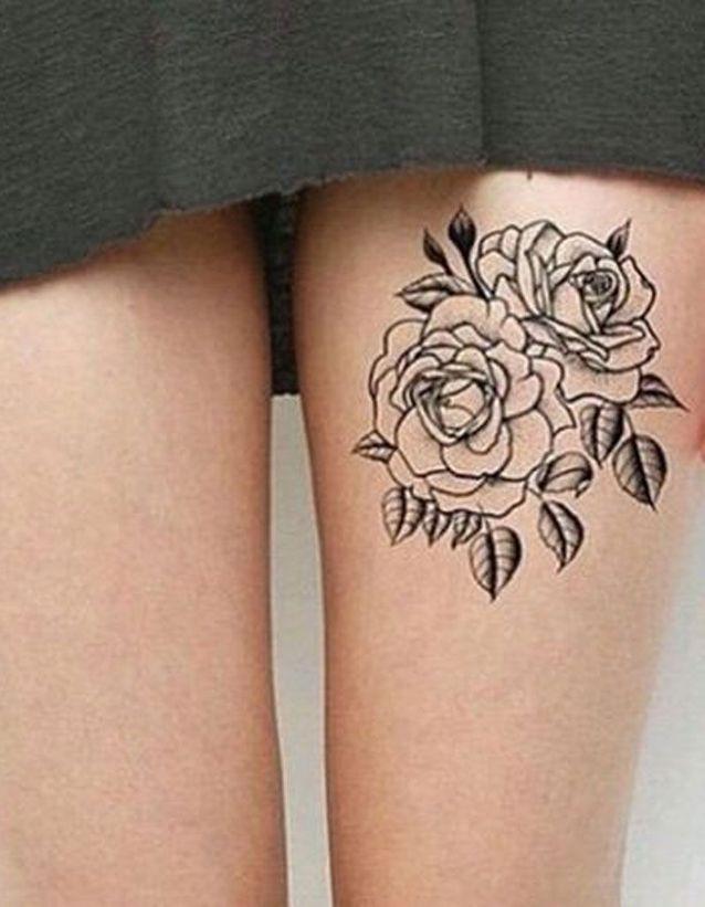 Tatouage Cuisse Rose 15 Tatouages Sur La Cuisse Qui Nous Font De