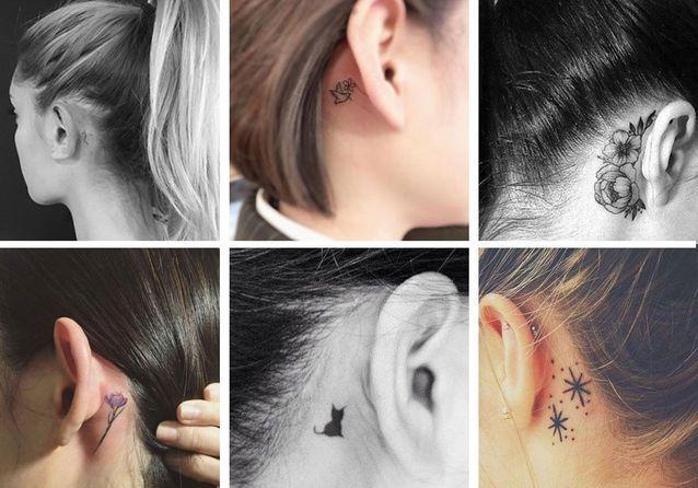 Tatouage derrière l\u0027oreille  toutes nos idées de tatouages