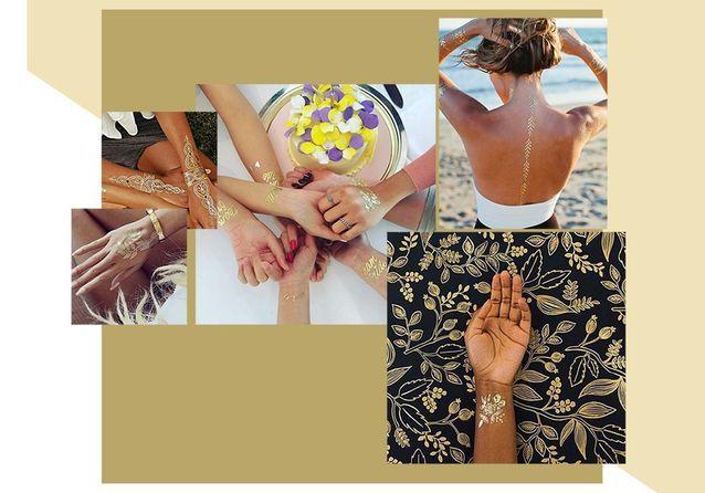 24 tatouages dorés pour une peau illuminée