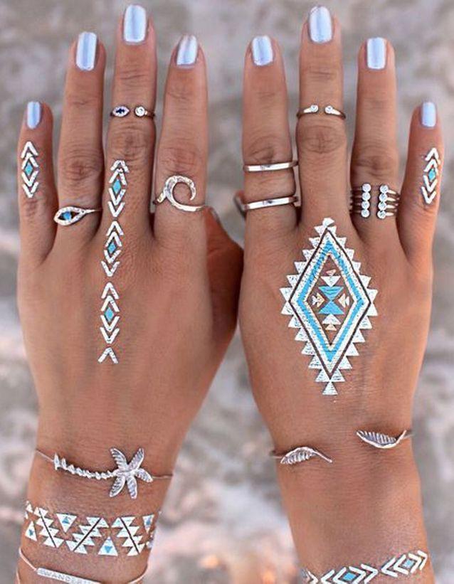 Tatouages mains éphémères