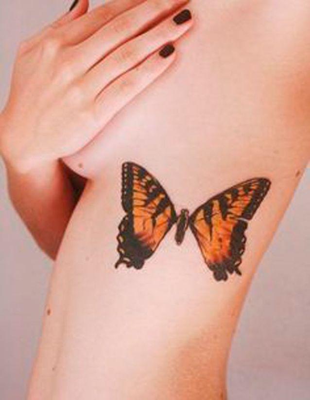 Tatouage papillon couleur