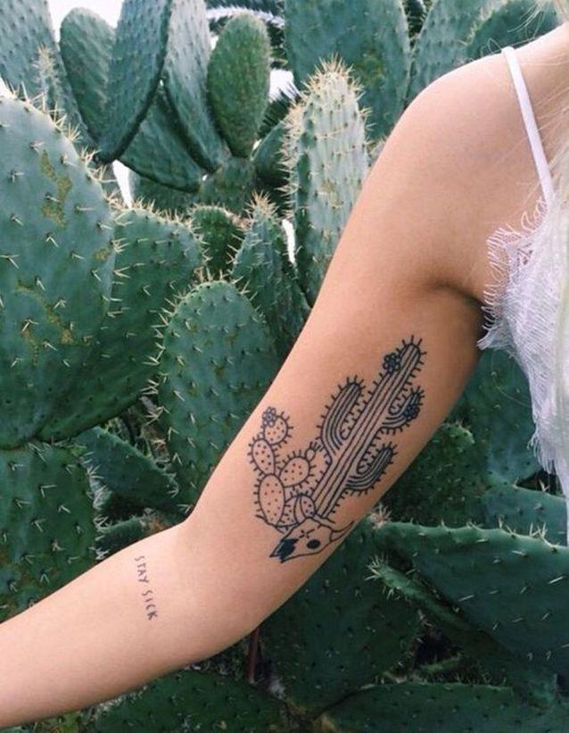les plus beaux tatouages de plantes - elle