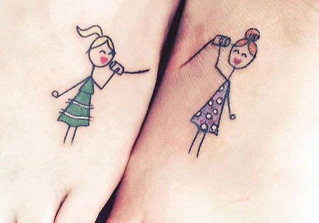 Tatouage Sœurs Nos Idées De Tatouages Entre Sœurs Elle