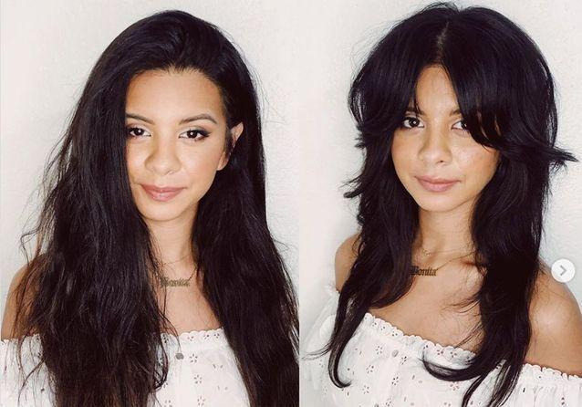 Avant / après : la coupe shag sur cheveux longs