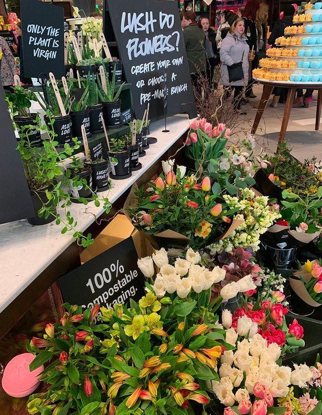 Des fleurs locales et de saison (vous n'aurez donc pas de roses pour la Saint Valentin !)