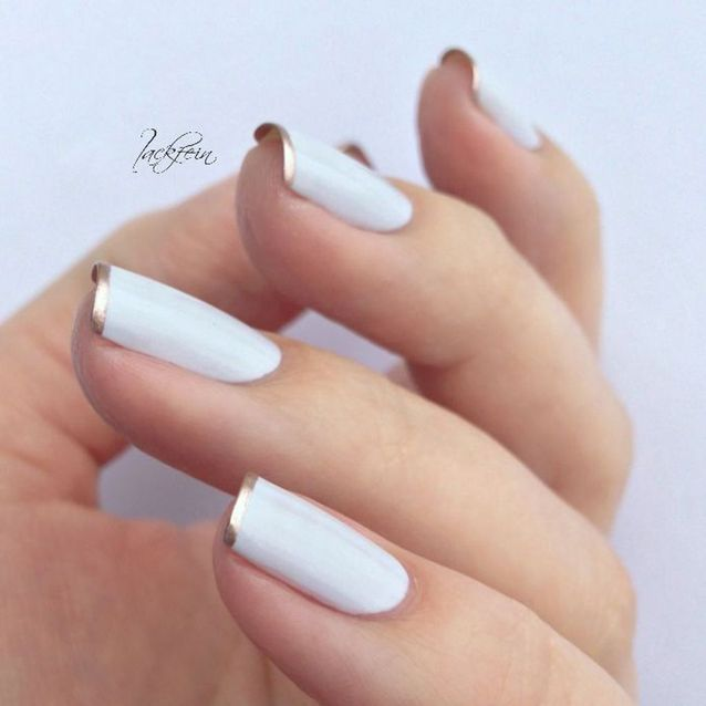 French manucure vernis blanc
