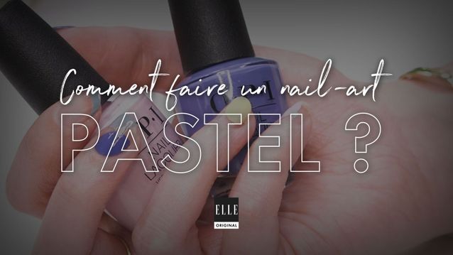 Comment faire un abstract nail pastel ?