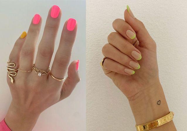 Manucure néon : la tendance flashy qui s'empare d'Instagram