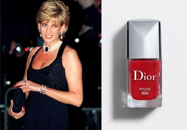 Lady Diana et sa manucure rouge vermillon