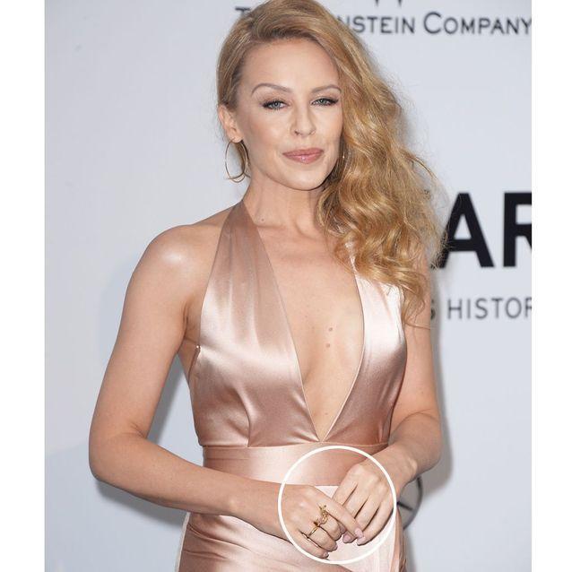 La manucure nude de Kylie Minogue