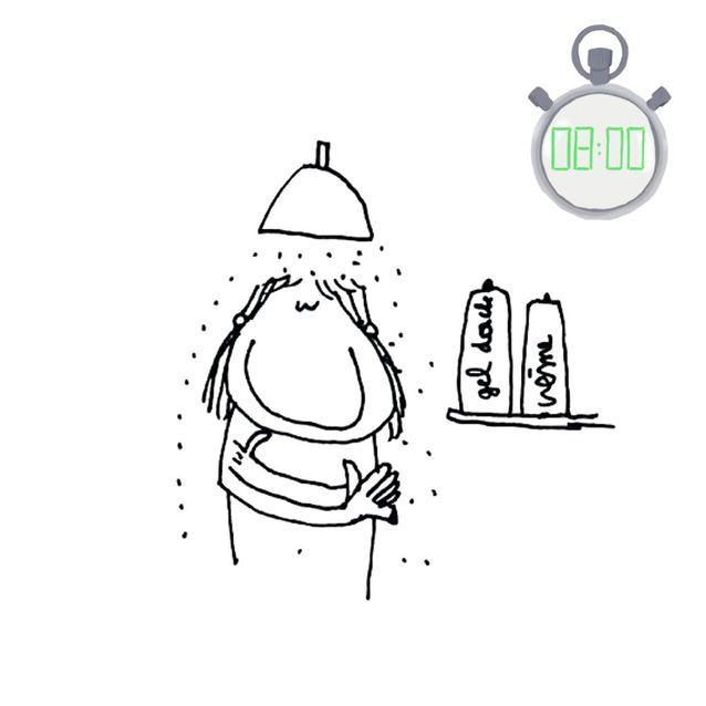 Utiliser une crème hydratante sous la douche