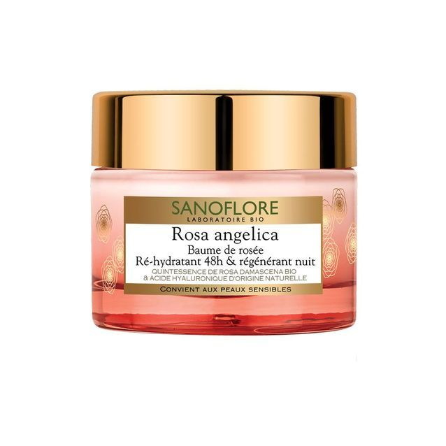 Baume de rosée Ré-hydratant 48h & régénérant nuit, Rosa Angelica, Sanoflore, 50 ml, 24,85 €