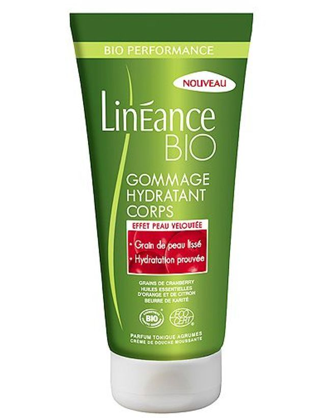 Gommage hydratant corps, Linéance