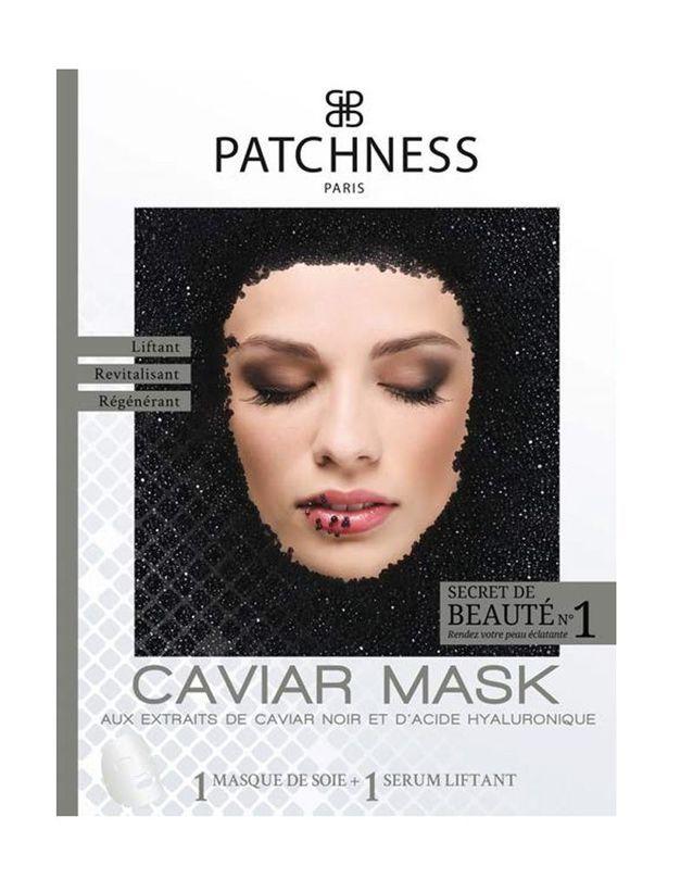 Caviar Mask aux extraits de caviar noir et d'acide hyaluronique, Patchness, 12€ le masque