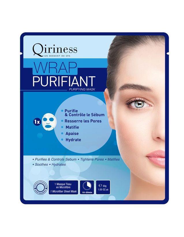Masque Wrap Purifiant, Qiriness, 3,90€ le masque (janvier 2016 chez Marionnaud)